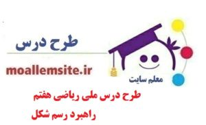طرح درس ریاضی هفتم بر اساس برنامه سند ملی درس راهبرد رسم شکل